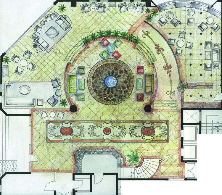 Hotel Lobby Plan - Dubai