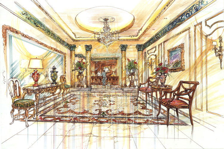 Qatar Palace Hotel Suites Lobby