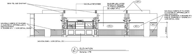 Fairmont Mont Tremblant - Windigo Bar Elevation