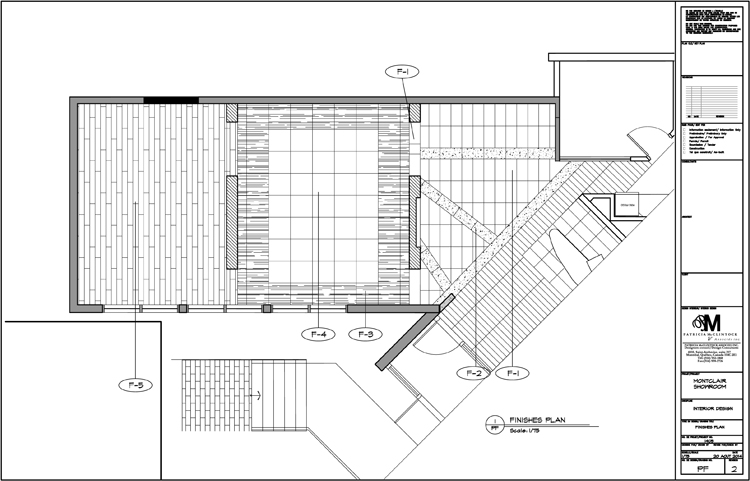 Groupe Montclair Showroom Plan