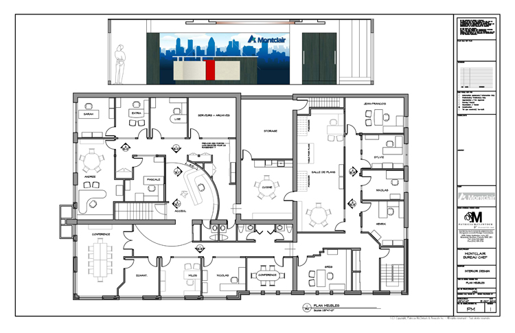 Groupe Montclair - Office Plan