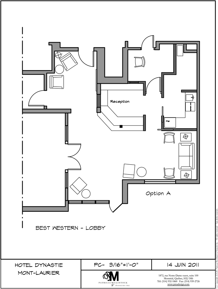 Hotel Best Western Plus Lobby Plan - Mont Laurier