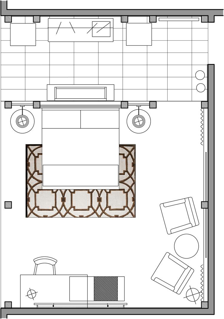 Hi Connect Design - Boutique Guestroom Plan