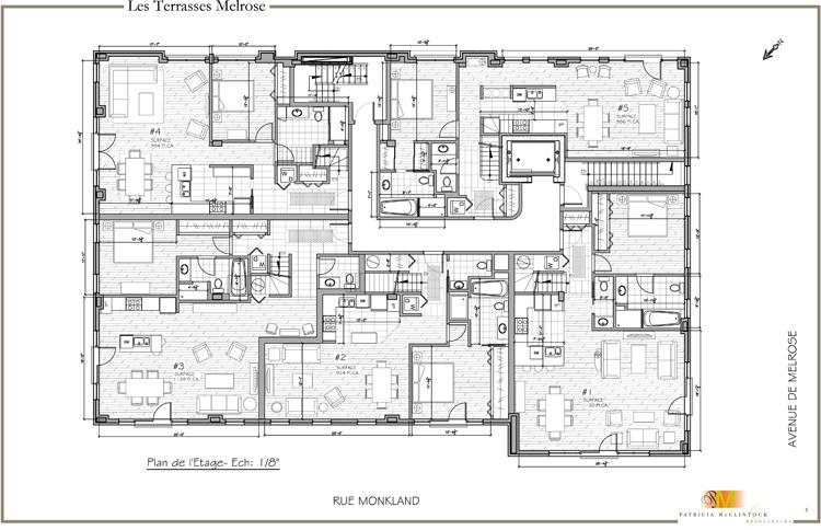 Terrasses Melrose Condos Monkland Av - Plan